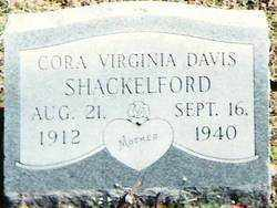 DAVIS SHACKELFORD, CORA VIRGINIA - Lee County, Arkansas | CORA VIRGINIA DAVIS SHACKELFORD - Arkansas Gravestone Photos