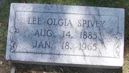 SPIVEY, LEE OLGIA - Lee County, Arkansas | LEE OLGIA SPIVEY - Arkansas Gravestone Photos