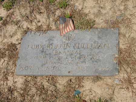 SULLIVAN (VETERAN WWI), LUBY RUFFIN - Lee County, Arkansas | LUBY RUFFIN SULLIVAN (VETERAN WWI) - Arkansas Gravestone Photos