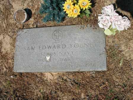 YOUNG (VETERAN WWII), SAM EDWARD - Lee County, Arkansas | SAM EDWARD YOUNG (VETERAN WWII) - Arkansas Gravestone Photos