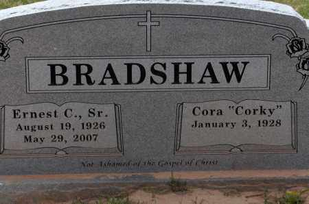 BRADSHAW, SR, ERNEST C., - Lincoln County, Arkansas | ERNEST C., BRADSHAW, SR - Arkansas Gravestone Photos