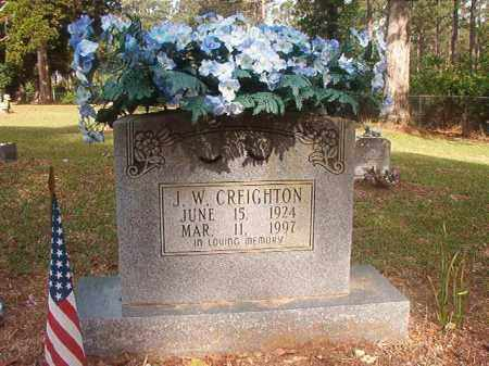 CREIGHTON, J W - Lincoln County, Arkansas | J W CREIGHTON - Arkansas Gravestone Photos