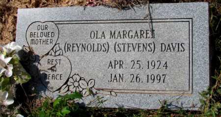 REYNOLDS DAVIS, OLA MARGARET - Lincoln County, Arkansas | OLA MARGARET REYNOLDS DAVIS - Arkansas Gravestone Photos