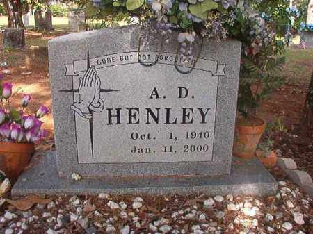 HENLEY, A D - Lincoln County, Arkansas | A D HENLEY - Arkansas Gravestone Photos