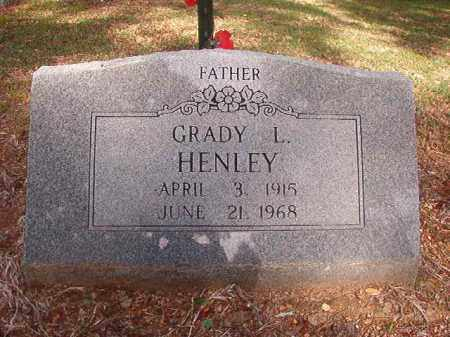 HENLEY, GRADY L - Lincoln County, Arkansas | GRADY L HENLEY - Arkansas Gravestone Photos