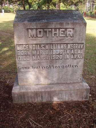 WILLIAMS MCGRAW, LUCENDIA S - Lincoln County, Arkansas | LUCENDIA S WILLIAMS MCGRAW - Arkansas Gravestone Photos