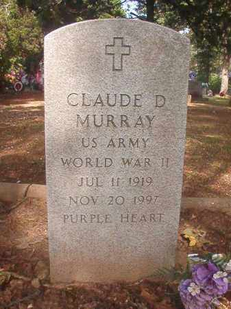 MURRAY (VETERAN WWII), CLAUDE D - Lincoln County, Arkansas | CLAUDE D MURRAY (VETERAN WWII) - Arkansas Gravestone Photos