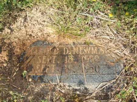 NEWMAN, HAROLD D - Lincoln County, Arkansas | HAROLD D NEWMAN - Arkansas Gravestone Photos