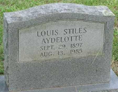 AYDELOTTE, LOUIS STILES - Little River County, Arkansas | LOUIS STILES AYDELOTTE - Arkansas Gravestone Photos