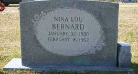 BERNARD, NINA LOU - Little River County, Arkansas | NINA LOU BERNARD - Arkansas Gravestone Photos