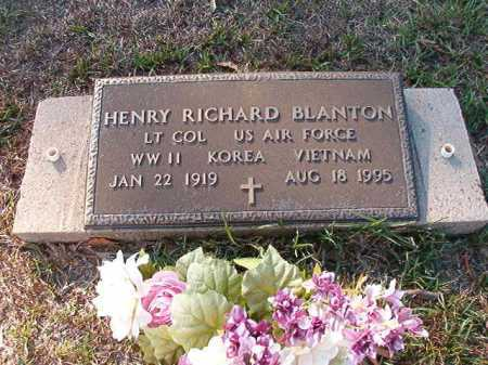 BLANTON (VETERAN 3 WARS), HENRY RICHARD - Little River County, Arkansas | HENRY RICHARD BLANTON (VETERAN 3 WARS) - Arkansas Gravestone Photos
