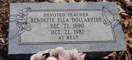 DOLLARHIDE, BENDETTE ELLA - Little River County, Arkansas   BENDETTE ELLA DOLLARHIDE - Arkansas Gravestone Photos