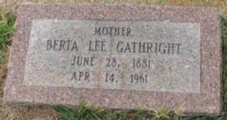 MORRIS GATHRIGHT, BERTA LEE - Little River County, Arkansas | BERTA LEE MORRIS GATHRIGHT - Arkansas Gravestone Photos