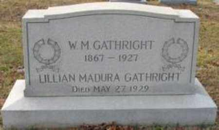 GATHRIGHT, LILLIAN MADURA - Little River County, Arkansas | LILLIAN MADURA GATHRIGHT - Arkansas Gravestone Photos