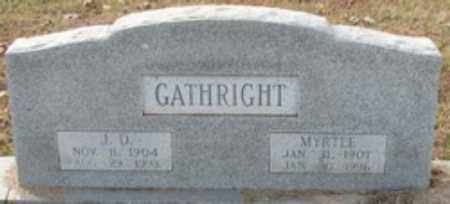 WISE GATHRIGHT, MYRTLE - Little River County, Arkansas | MYRTLE WISE GATHRIGHT - Arkansas Gravestone Photos