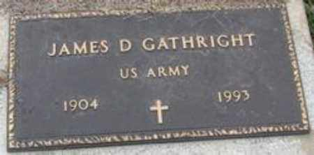 GATHRIGHT  (VETERAN), JAMES DORSEY - Little River County, Arkansas | JAMES DORSEY GATHRIGHT  (VETERAN) - Arkansas Gravestone Photos