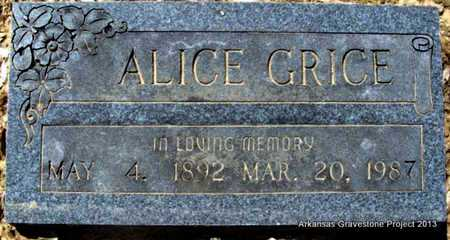 GRICE, ALICE - Little River County, Arkansas | ALICE GRICE - Arkansas Gravestone Photos