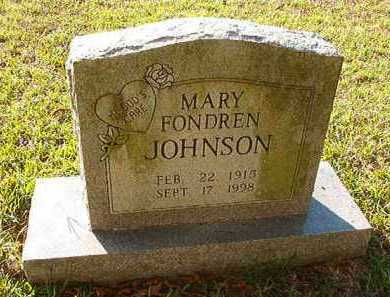FONDREN JOHNSON, MARY - Little River County, Arkansas | MARY FONDREN JOHNSON - Arkansas Gravestone Photos
