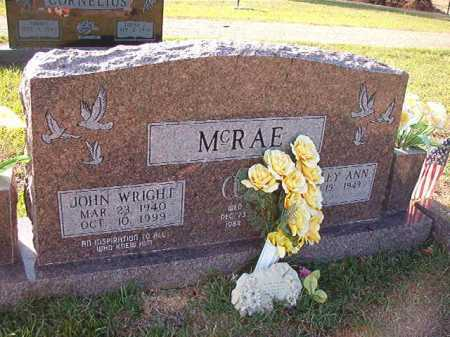 MCRAE, JOHN WRIGHT - Little River County, Arkansas | JOHN WRIGHT MCRAE - Arkansas Gravestone Photos