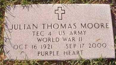 MOORE (VETERAN WWII), JULIAN THOMAS - Little River County, Arkansas | JULIAN THOMAS MOORE (VETERAN WWII) - Arkansas Gravestone Photos