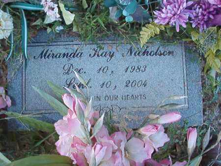 NICHOLSON, MIRANDA RAY - Little River County, Arkansas | MIRANDA RAY NICHOLSON - Arkansas Gravestone Photos