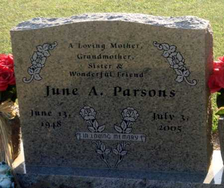 PARSONS, JUNE A - Little River County, Arkansas | JUNE A PARSONS - Arkansas Gravestone Photos