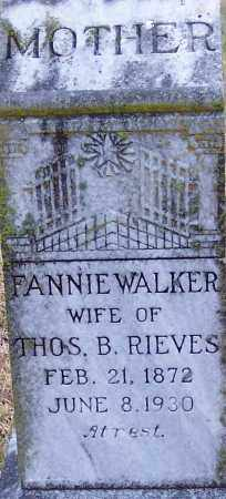 RIEVES, MARY FRANCES - Little River County, Arkansas | MARY FRANCES RIEVES - Arkansas Gravestone Photos