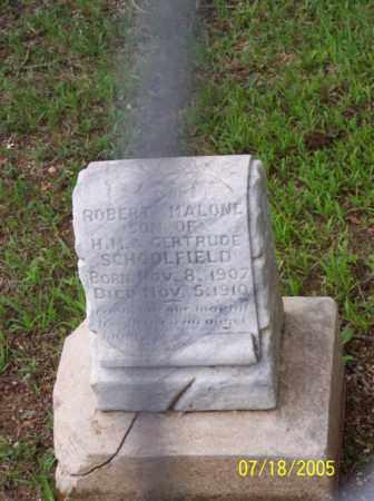 SCHOOLFIELD, ROBERT MALONE - Little River County, Arkansas | ROBERT MALONE SCHOOLFIELD - Arkansas Gravestone Photos
