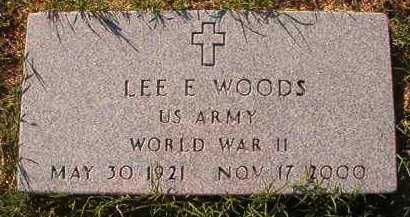 WOODS (VETERAN WWII), LEE E - Little River County, Arkansas | LEE E WOODS (VETERAN WWII) - Arkansas Gravestone Photos