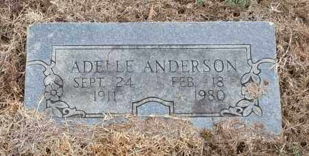ANDERSON, ADELLE - Logan County, Arkansas | ADELLE ANDERSON - Arkansas Gravestone Photos