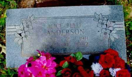 ANDERSON, ALICE BELLE - Logan County, Arkansas | ALICE BELLE ANDERSON - Arkansas Gravestone Photos