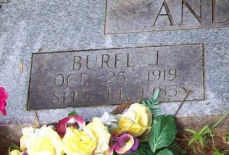 ANDERSON, BUREL J (CLOSEUP) - Logan County, Arkansas | BUREL J (CLOSEUP) ANDERSON - Arkansas Gravestone Photos