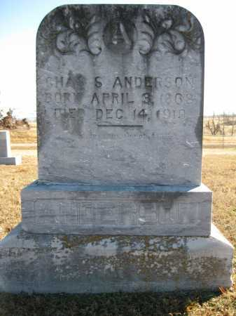 ANDERSON, CHAS S - Logan County, Arkansas | CHAS S ANDERSON - Arkansas Gravestone Photos