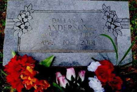 ANDERSON, DALLAS A - Logan County, Arkansas | DALLAS A ANDERSON - Arkansas Gravestone Photos
