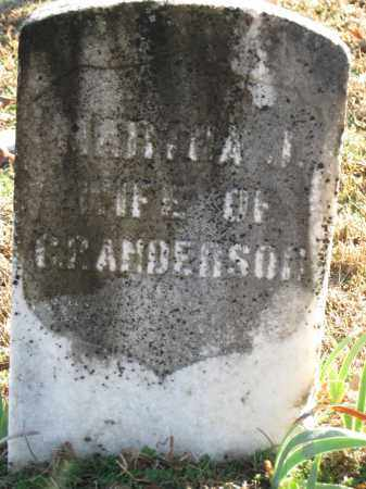 ANDERSON, MARTHA J - Logan County, Arkansas | MARTHA J ANDERSON - Arkansas Gravestone Photos