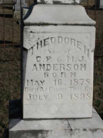 ANDERSON, THEODORE H - Logan County, Arkansas   THEODORE H ANDERSON - Arkansas Gravestone Photos