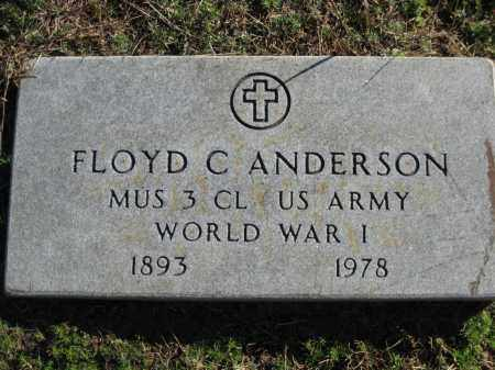 ANDERSON (VETERAN WWI), FLOYD C - Logan County, Arkansas | FLOYD C ANDERSON (VETERAN WWI) - Arkansas Gravestone Photos