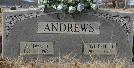 ANDREWS, A. EDWARD - Logan County, Arkansas | A. EDWARD ANDREWS - Arkansas Gravestone Photos