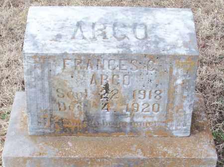 ARGO, FRANCES C - Logan County, Arkansas | FRANCES C ARGO - Arkansas Gravestone Photos
