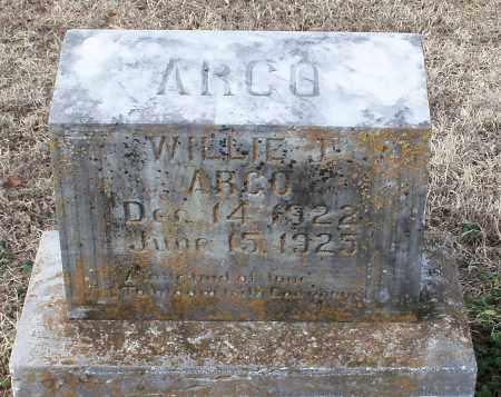 ARGO, WILLIE J - Logan County, Arkansas | WILLIE J ARGO - Arkansas Gravestone Photos