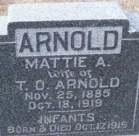 ARNOLD, MATTIE A. - Logan County, Arkansas | MATTIE A. ARNOLD - Arkansas Gravestone Photos