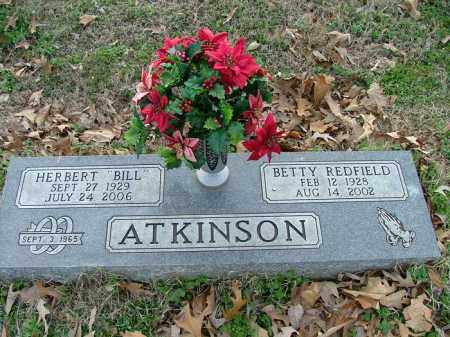 ATKINSON, BETTY REDFIELD - Logan County, Arkansas | BETTY REDFIELD ATKINSON - Arkansas Gravestone Photos