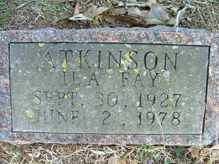 ATKINSON, ILA FAY - Logan County, Arkansas | ILA FAY ATKINSON - Arkansas Gravestone Photos