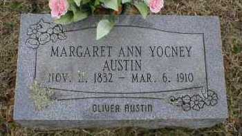 YOCNEY AUSTIN, MARGARET ANN - Logan County, Arkansas | MARGARET ANN YOCNEY AUSTIN - Arkansas Gravestone Photos