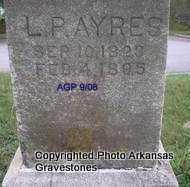 AYRES, L P - Logan County, Arkansas | L P AYRES - Arkansas Gravestone Photos