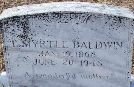BALDWIN, L. MYRTLE - Logan County, Arkansas | L. MYRTLE BALDWIN - Arkansas Gravestone Photos