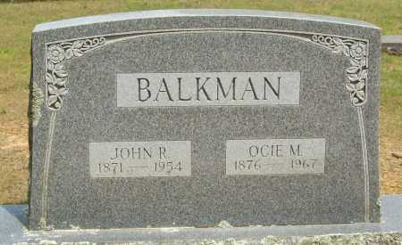 BALKMAN, JOHN R. - Logan County, Arkansas | JOHN R. BALKMAN - Arkansas Gravestone Photos