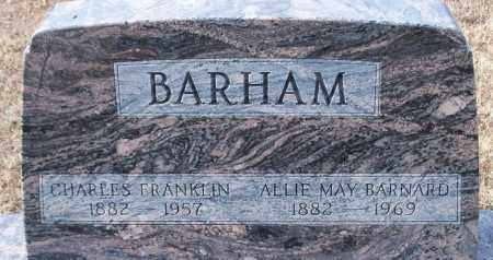 BARNARD BARHAM, ALLIE MAY - Logan County, Arkansas | ALLIE MAY BARNARD BARHAM - Arkansas Gravestone Photos