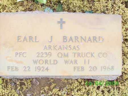 BARNARD (VETERAN WWII), EARL J - Logan County, Arkansas | EARL J BARNARD (VETERAN WWII) - Arkansas Gravestone Photos