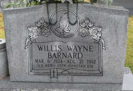 BARNARD (VETERAN), WILLIS WAYNE - Logan County, Arkansas | WILLIS WAYNE BARNARD (VETERAN) - Arkansas Gravestone Photos